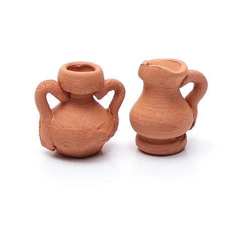 Anfora ceramica assortita h reale 1,5 cm 2