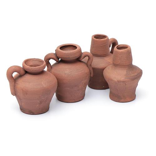 Ánfora cerámica rústica h real 2,5 cm surtida 2