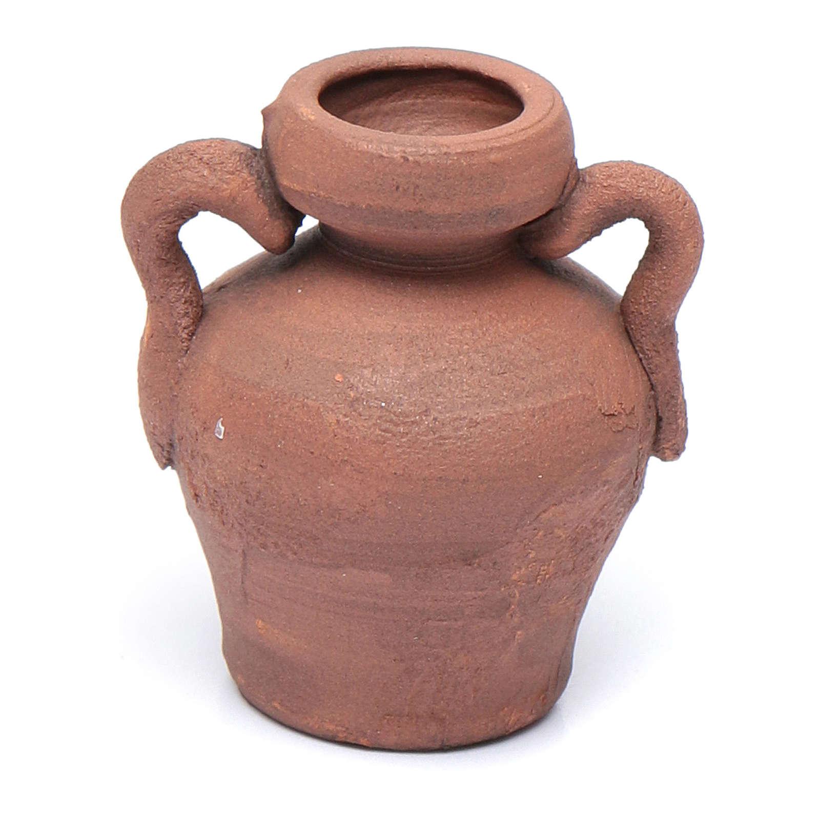 Rustic ceramic amphora 2,5 cm assorted models 4