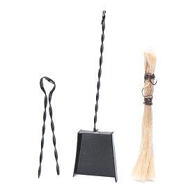 Herramientas de trabajo: Herramientas del brasero belén set 3 piezas h real 6,5 cm
