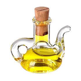 Botella aceite oliva cristal miniatura 2.5 cm pesebre s1