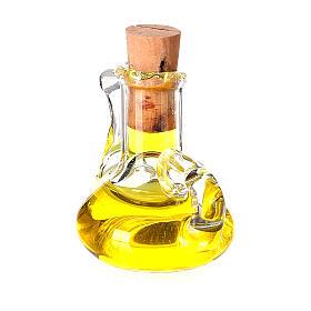Botella aceite oliva cristal miniatura 2.5 cm pesebre s3
