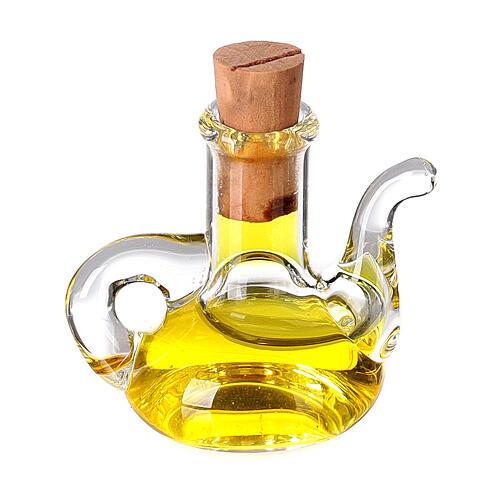 Botella aceite oliva cristal miniatura 2.5 cm pesebre 1