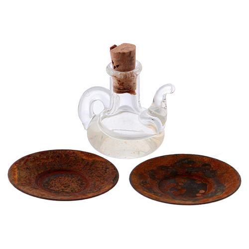Bouteille huile olive cristal miniature crèche h réelle 2,5 cm 2