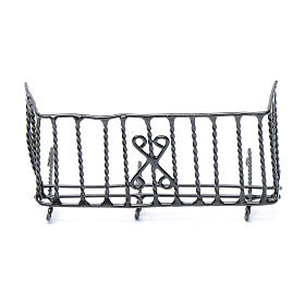 Balustrade, doors, railings: Nativity scene metal balcony 6 cm