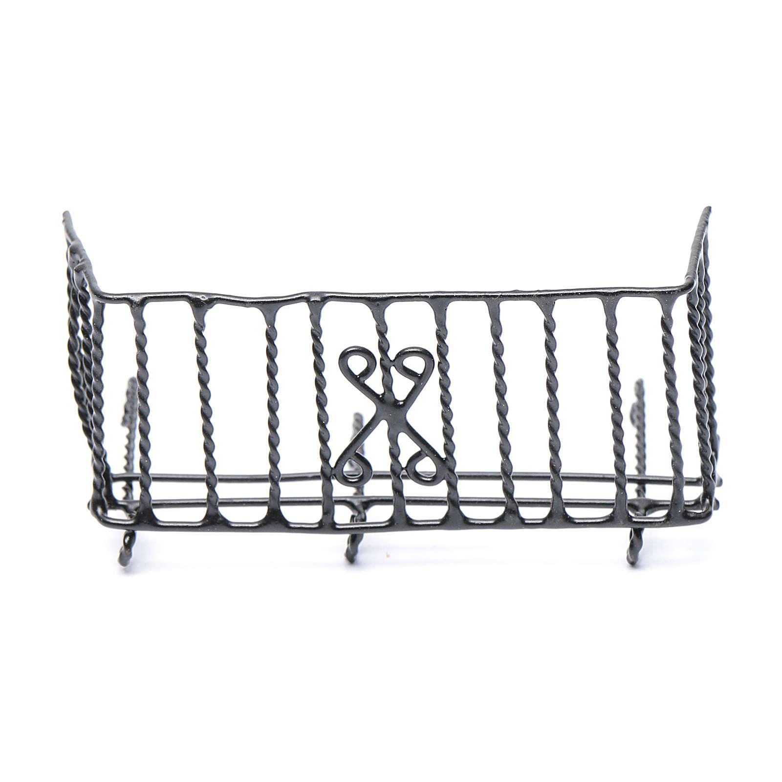 Balcon métal crèche h réelle 6 cm 4