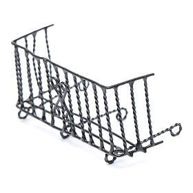 Balcon métal crèche h réelle 6 cm s2