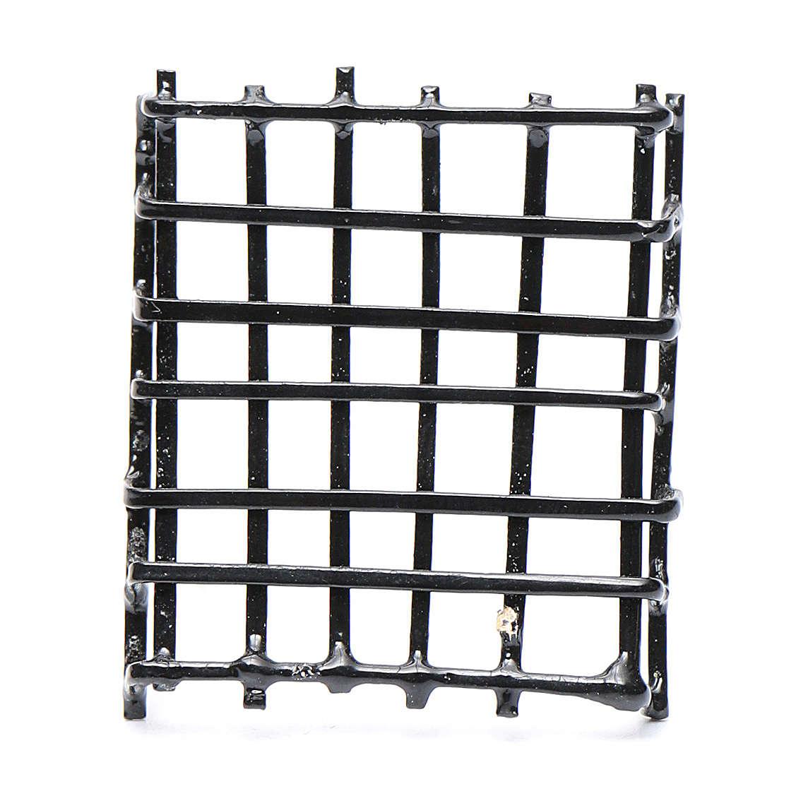Garde-fenêtre métal crèche h réelle 3 cm 4
