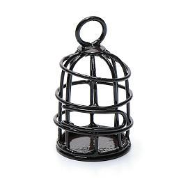 Käfig für Vögelchen Metall für Krippe 4cm s2