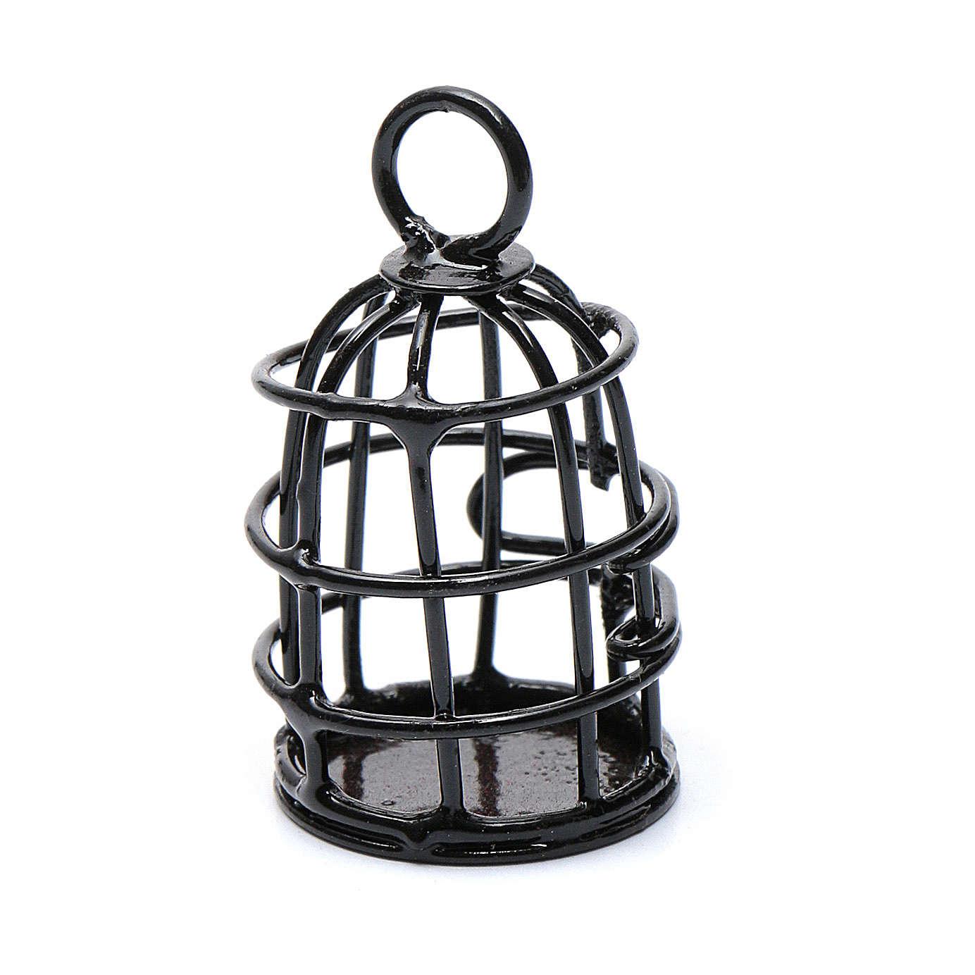 Gabbia uccellino metallo presepe h reale 4 cm 4