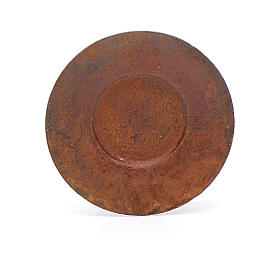 Metal plate for nativity scene 2 cm diameter s1