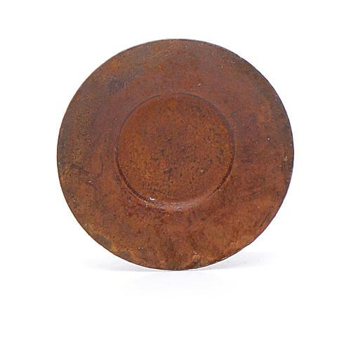Assiette métal crèche diam. 2 cm 1