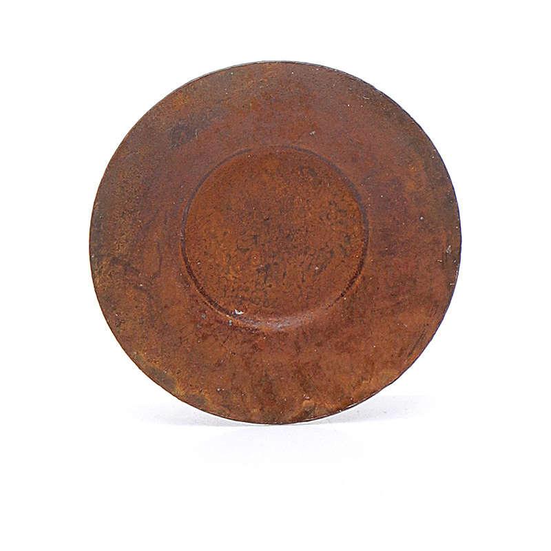 Piatto metallo presepe diam. 2 cm 4