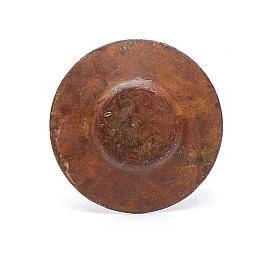 Piatto metallo presepe diam. 2 cm s2