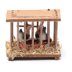 Nativity scene wooden cage 5x5x3 cm s1