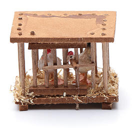 Nativity scene wooden cage 5x5x3 cm s3