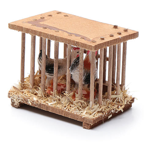 Nativity scene wooden cage 5x5x3 cm 2