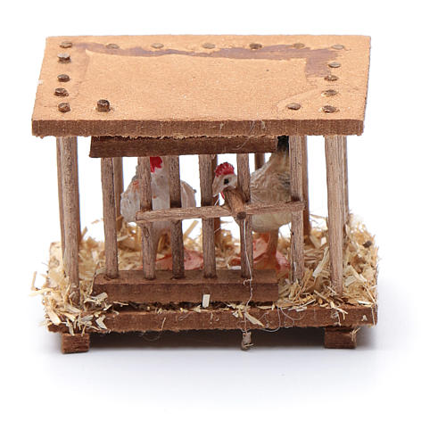 Nativity scene wooden cage 5x5x3 cm 3
