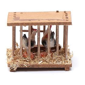 Nativity scene wooden cage 5x5x3 cm s1