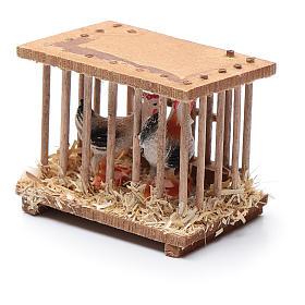 Nativity scene wooden cage 5x5x3 cm s2