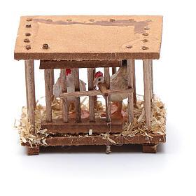 Nativity scene wooden cage 5x5x3 cm s3