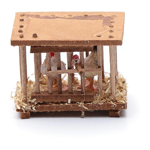 Nativity scene wooden cage 5x5x3 cm 3