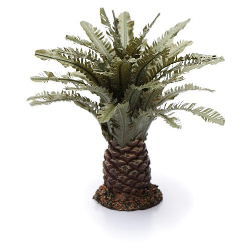Palmeira anã presépio altura real 12 cm 2