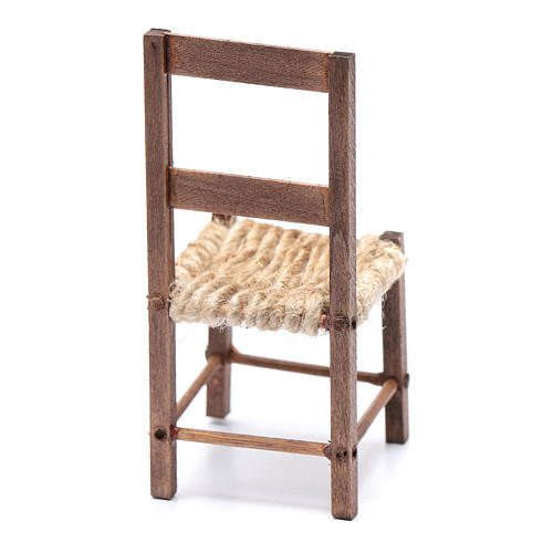 DIY nativity scene chair 10 cm for Neapolitan nativity scene 3