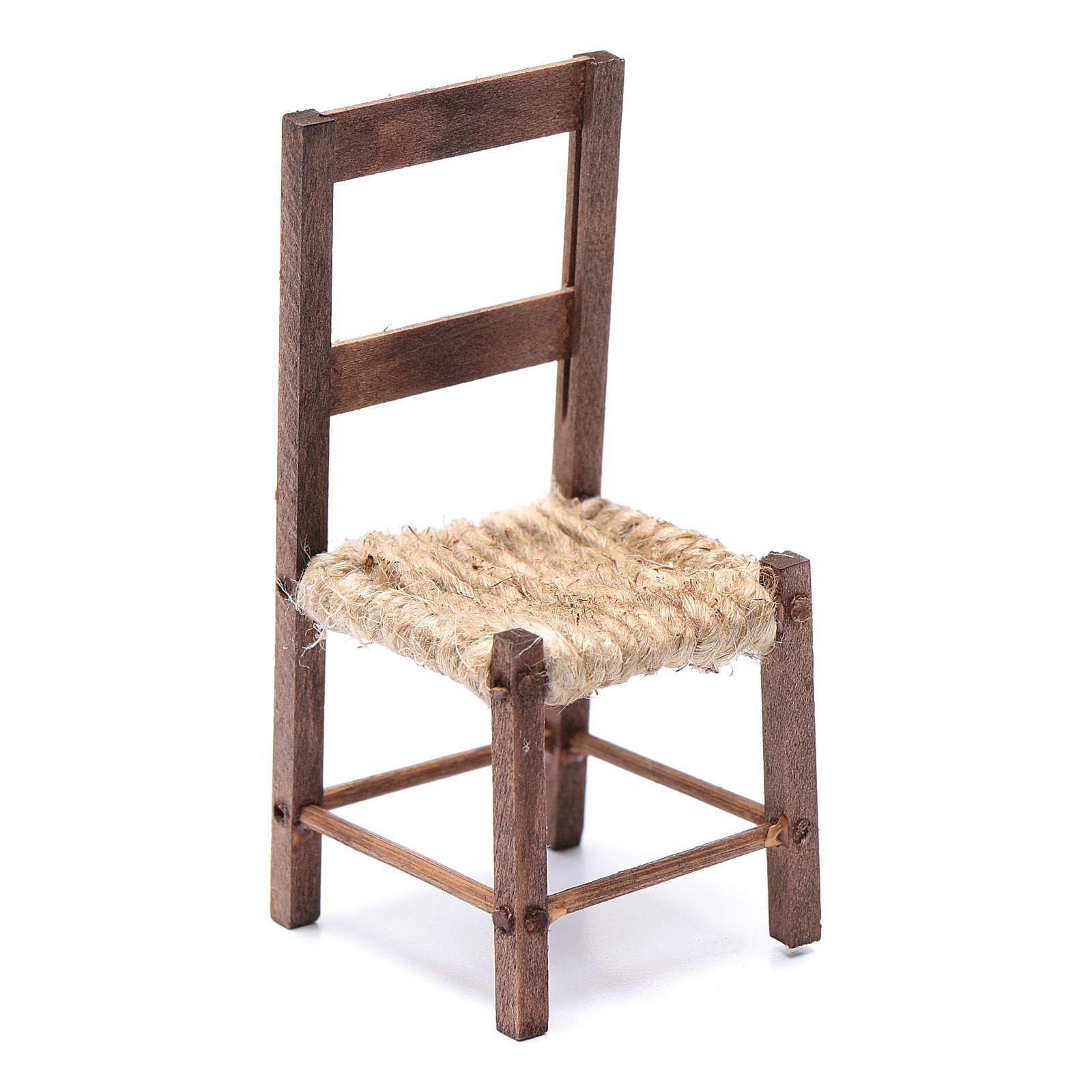 Chaise bricolage crèche 10 cm Naples 4