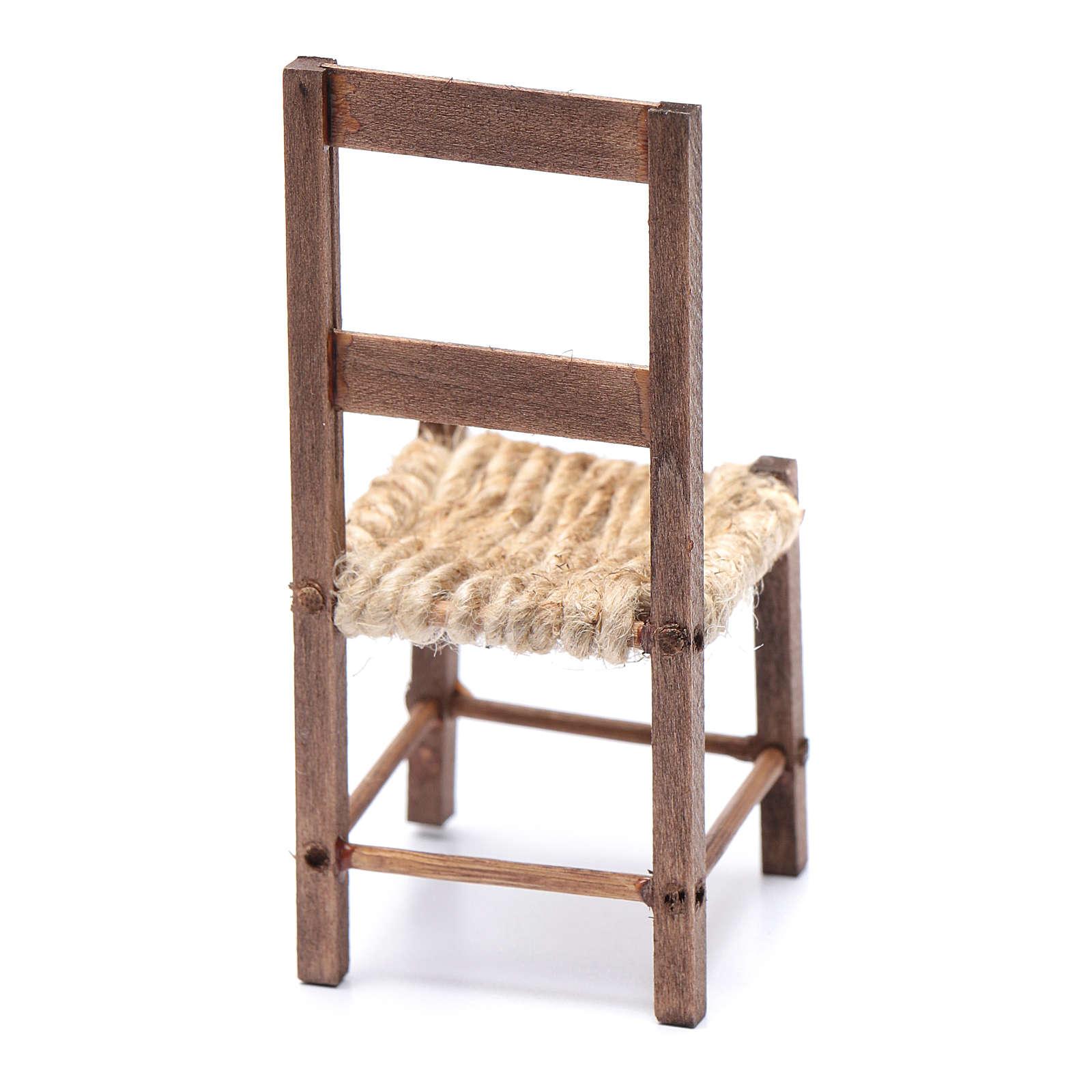 DIY nativity scene chair 10 cm for Neapolitan nativity scene 4