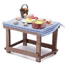 Tavolo con cibo 15x15x10 cm presepe napoletano fai da te s2