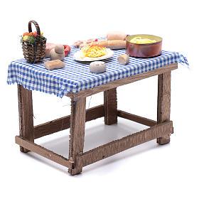 Tavolo con cibo 15x15x10 cm presepe napoletano fai da te s3