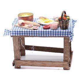 Tavolo con cibo 15x15x10 cm presepe napoletano fai da te s4