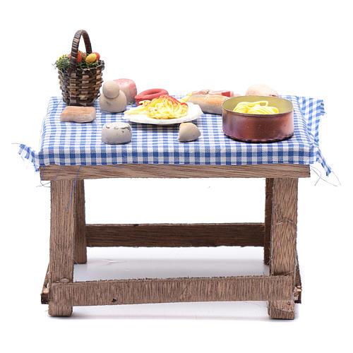 Tavolo con cibo 15x15x10 cm presepe napoletano fai da te 1