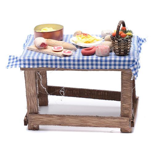 Tavolo con cibo 15x15x10 cm presepe napoletano fai da te 4
