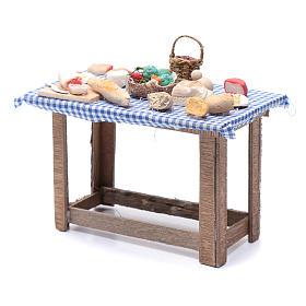 Tavolo con cibo 15x15x10 cm presepe Napoli fai da te s2