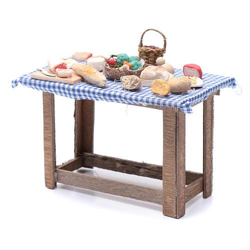 Tavolo con cibo 15x15x10 cm presepe Napoli fai da te 2