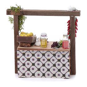 Banco aglio e peperoncino per presepe 10x10x5 cm s1