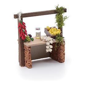 Banco aglio e peperoncino per presepe 10x10x5 cm s3