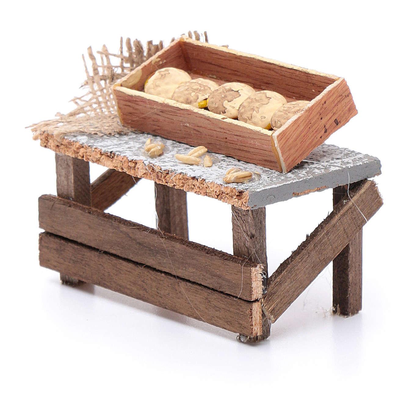 Banchetto forme di pane 10x10x5 cm per presepe 4
