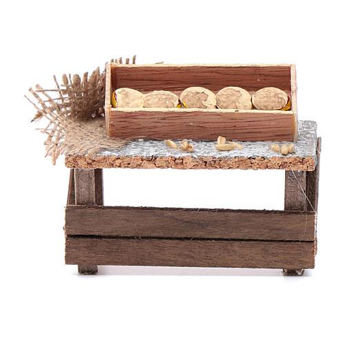 Banchetto forme di pane 10x10x5 cm per presepe 1