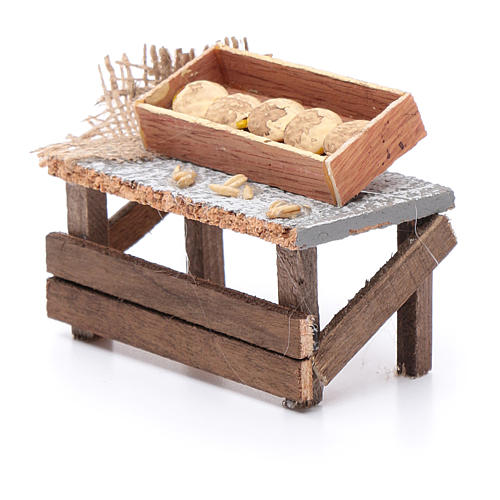 Banchetto forme di pane 10x10x5 cm per presepe 2