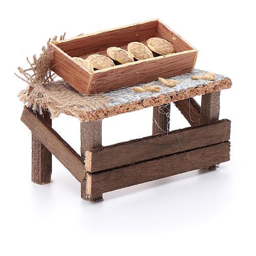 Banchetto forme di pane 10x10x5 cm per presepe 3