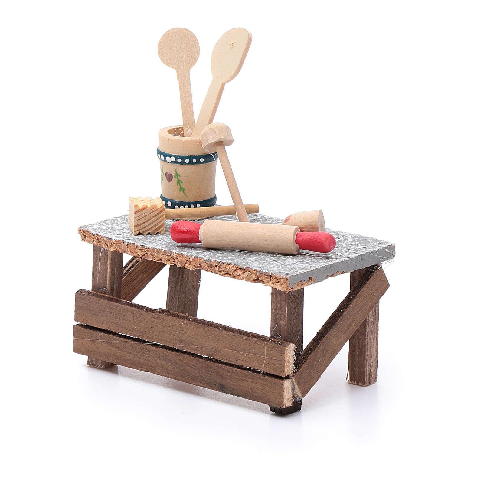 Banchetto utensili 10x10x5 cm per presepe 4