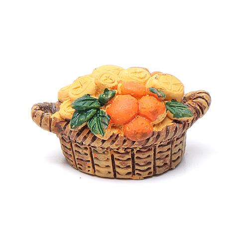 Frucht-Korb sortiert 2x3x1,5 cm für 10 cm für DIY-Krippe 1