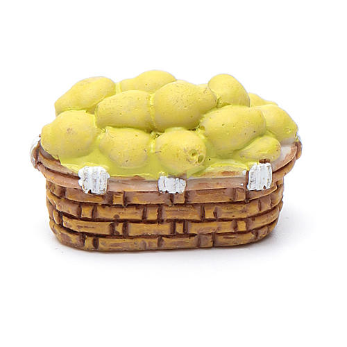 Panier fruits différents 2x3x1,5 crèche bricolage 10 cm 2