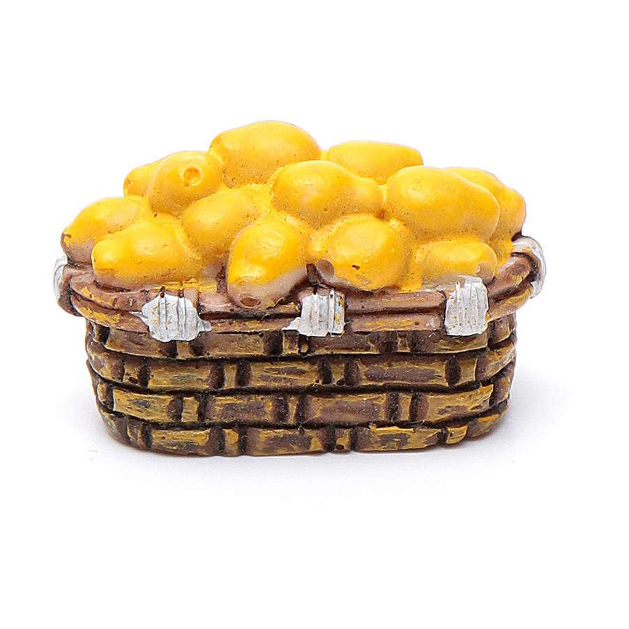 Cesto frutta assortita 2x3x1,5 presepe fai da te di 10 cm 4