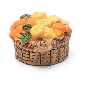 Cesto frutta assortita 2x3x1,5 presepe fai da te di 10 cm s5
