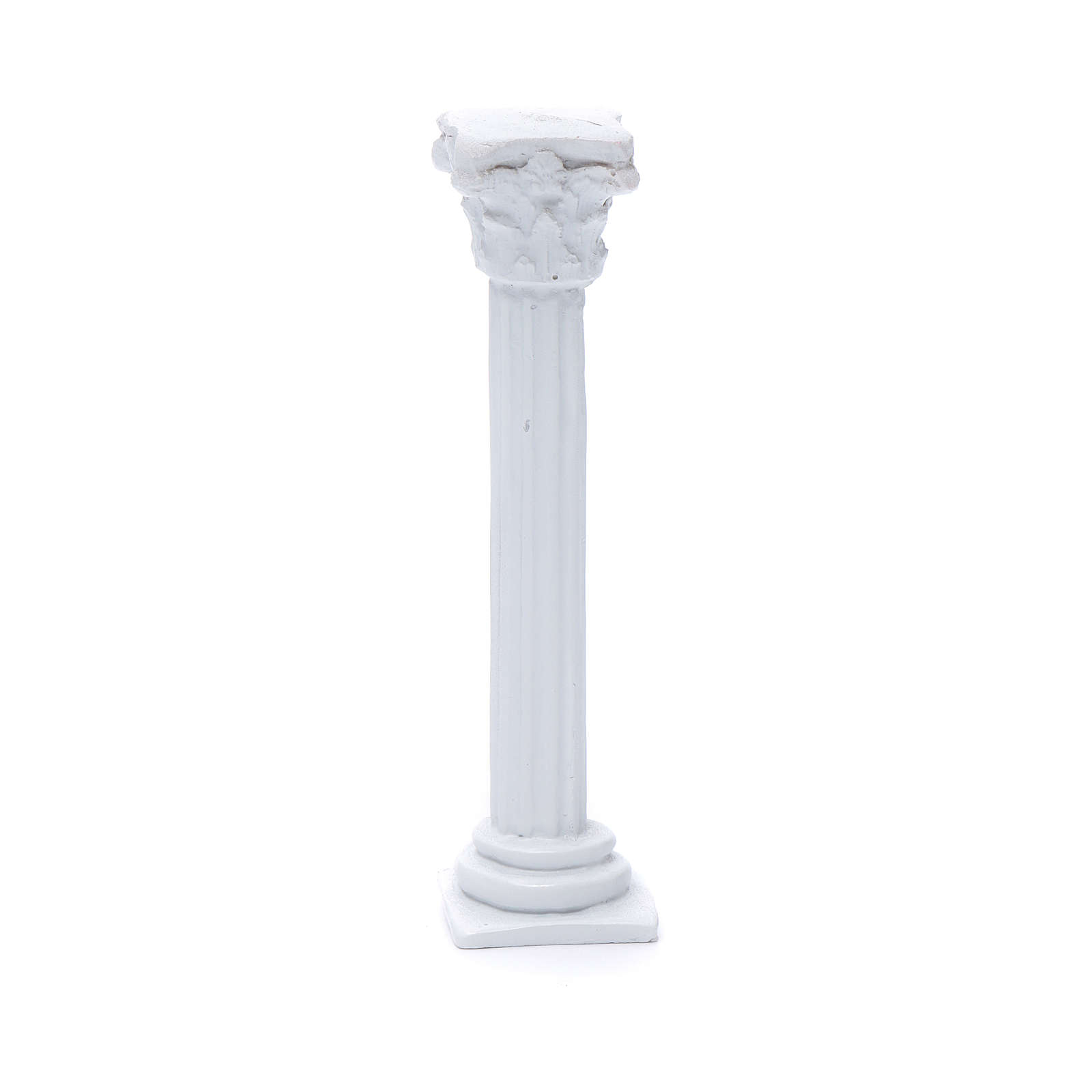 Columna estilo romano resina blanca 15 cm para belén 4