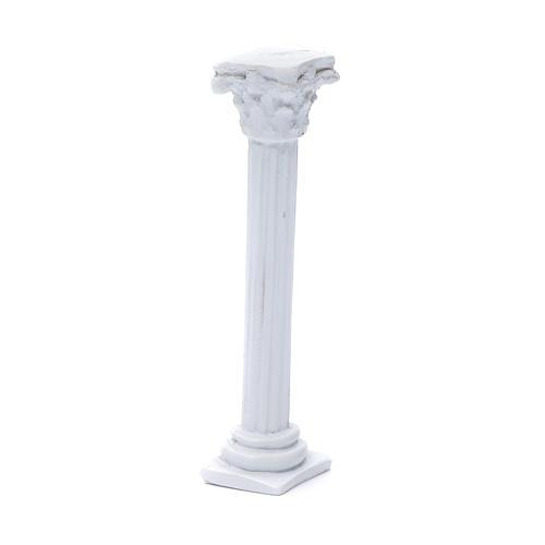Columna estilo romano resina blanca 15 cm para belén 2